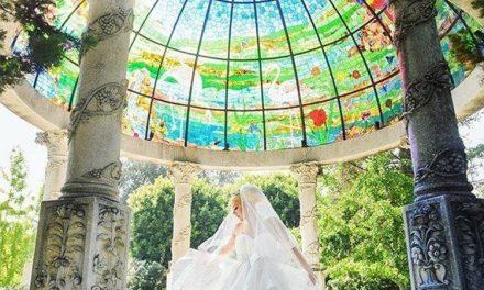 گنبد شیشه ای و ترکیب بی نظیر رنگ ها