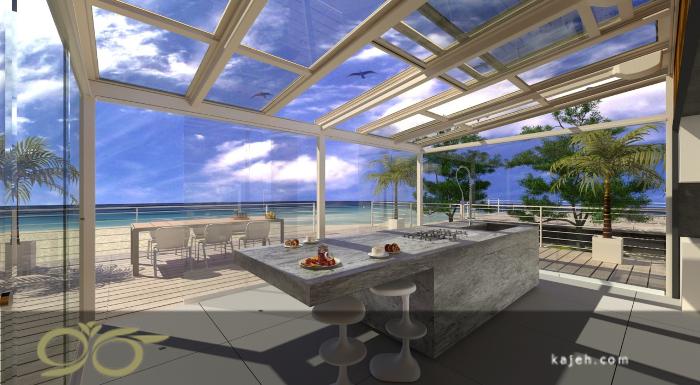 سقف نورگیر شیشه ای متحرک