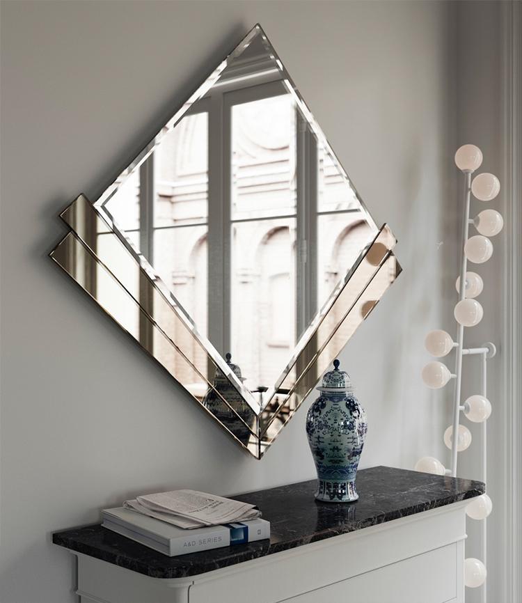 آینه قاب فلزی دکوراتیو
