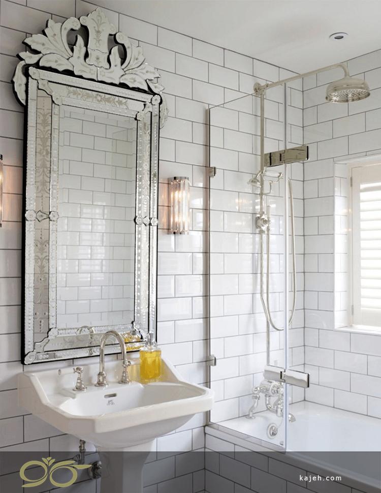سرویس بهداشتی و دکور آینه ای با فلز