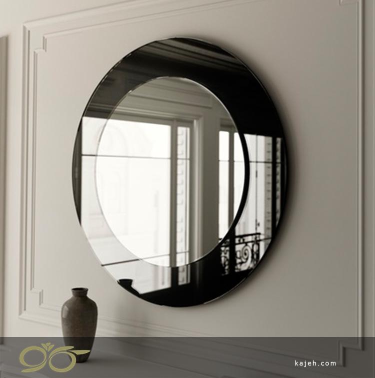 آینه دکوراتیو دایره ای سیاه و سفید