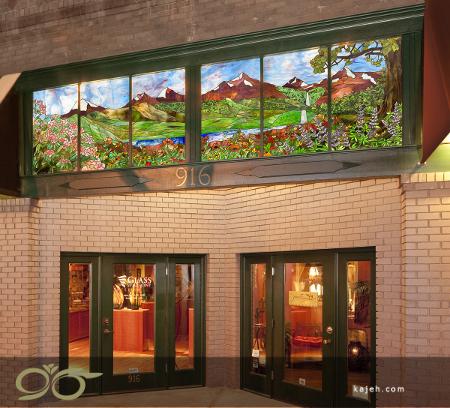 شیشه تزیینی تیفانی برای ساختمان