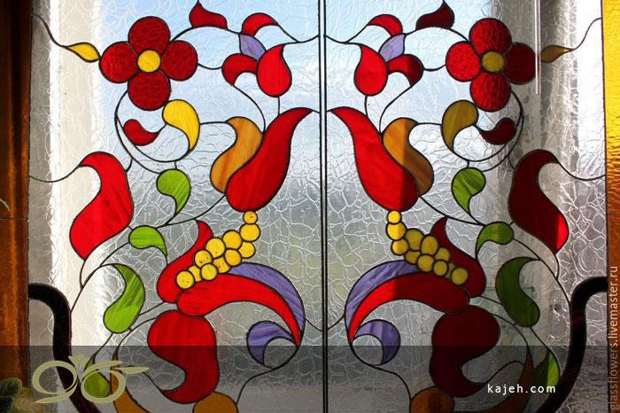 شیشه تزیینی دکوراتیو با تکنیک تیفانی