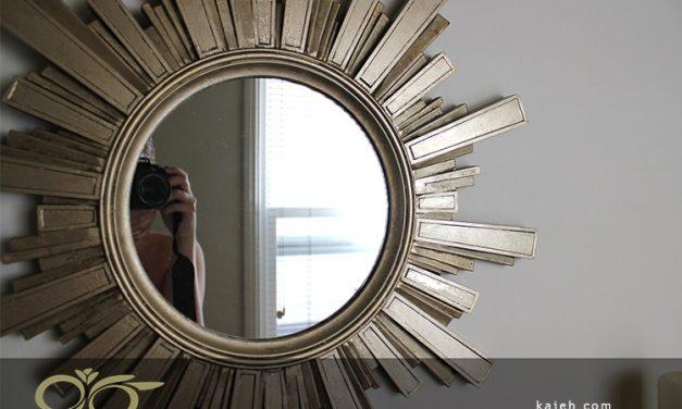 نصب آینه و همنشینی آن با آهن سخت، دکوری زیبا و منحصر به فرد