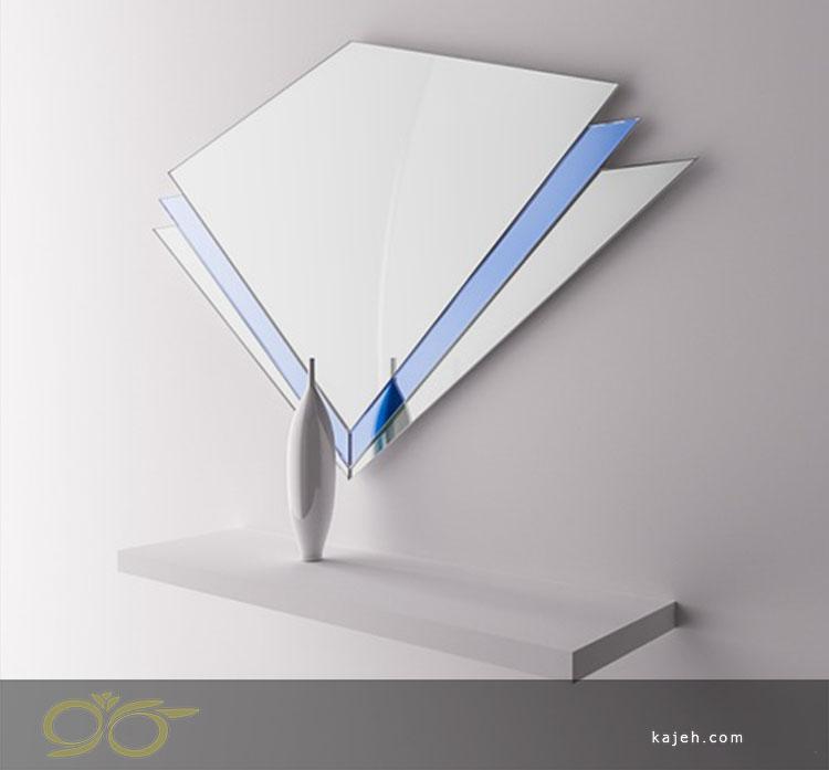 آینه دکوراتیو آبی