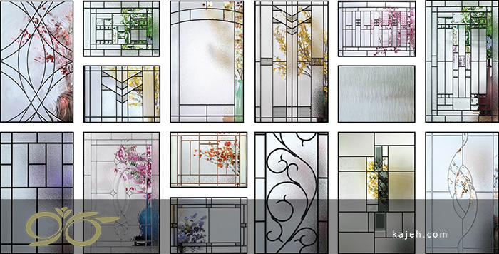 شیشه های تزیینی دکوراتیو برای درب لابی