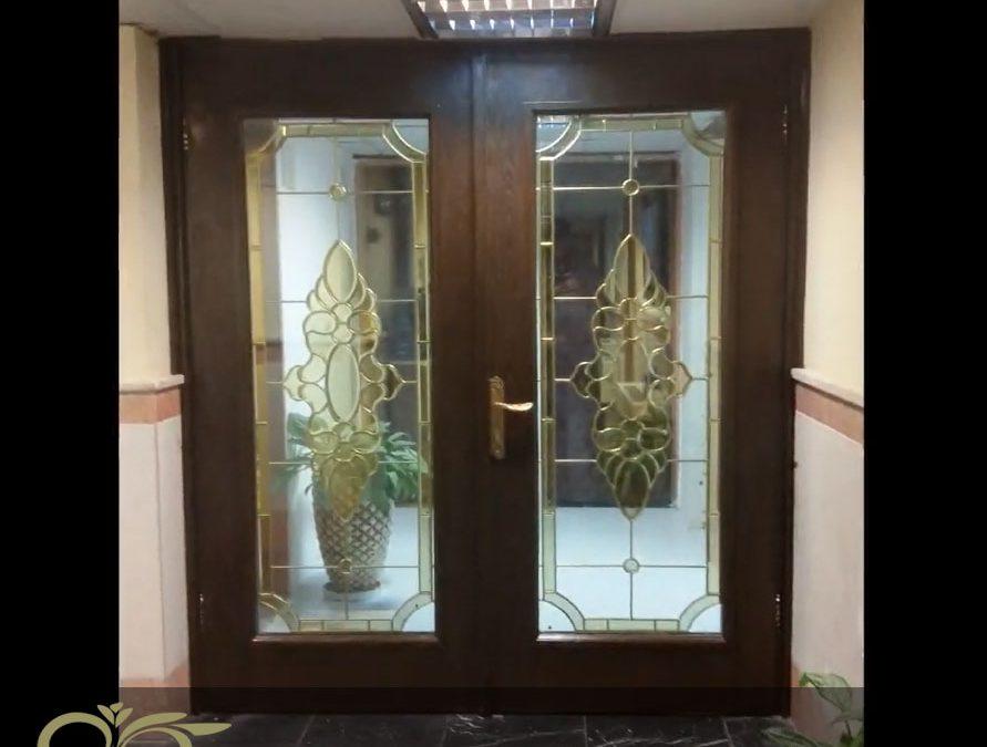 درب شیشه ای لابی ; ساخت درب شیشه ای استین گلس برای اداره گمرک