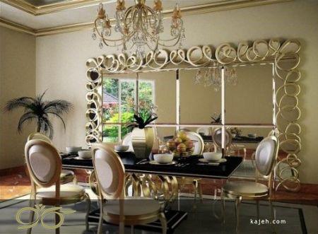 آینه های دکوراتیو لوکس و خاص برای سالن پذیرایی منازل