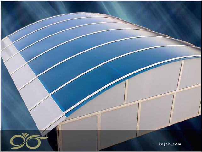 سقف نورگیر پلی کربنات دوجداره برای ساختمان