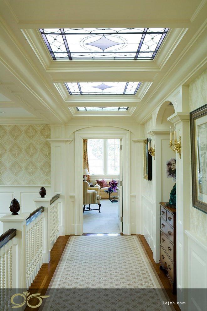 سقف نورگیر شیشه ای برای دکوراسیون داخلی ساختمان مدرن