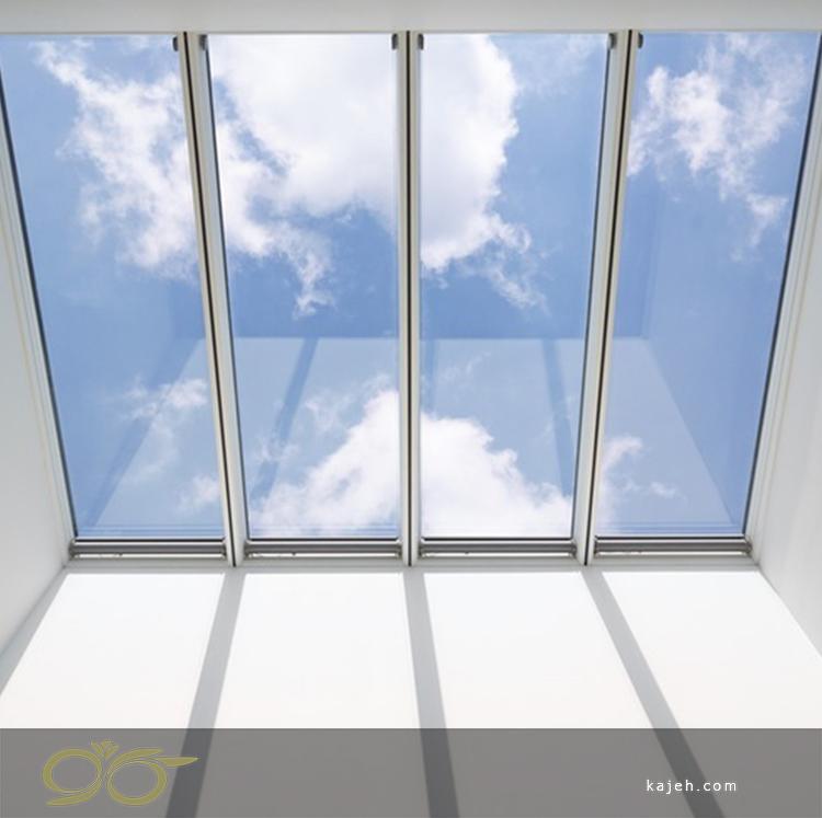 نمونه نورگیر شیشه ای