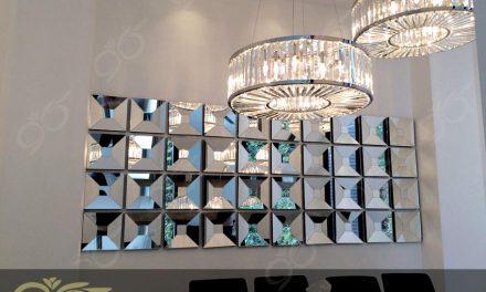آینه ۳ بعدی ; ساخت آینه دکوراتیو حجمی برای سالن نشیمن