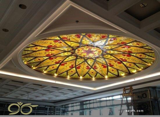گنبد شیشه ای دکوراتیو با تکنیک استیند گلس در طراحی ساختمان