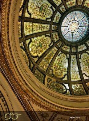 گنبد شیشه ای تیفانی برای تزیین سقف