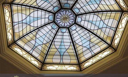 گنبد شیشه ای استین گلس یا گنبد شیشه ای تزئینی