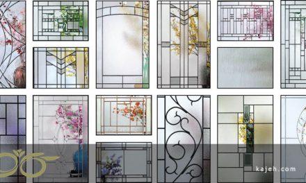 شیشه های تزیینی طرح دار برای درب لابی