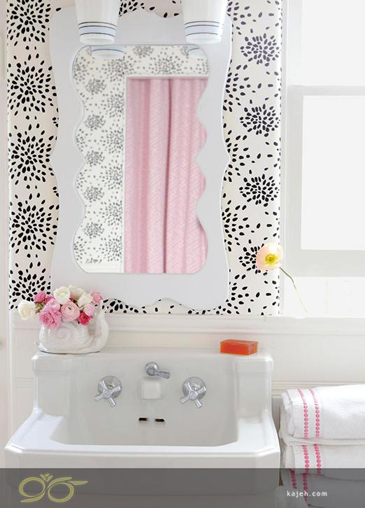 از یک تکه کاغذ دیواری استفاده کنید