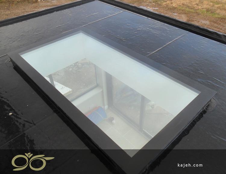 نصب نورگیر شیشه ای تک جداره یا دو جداره: