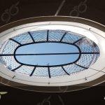 گنبد شیشه ای با مقطع بیضی به اقطار 4 و 2 متر ; ساخت با شیشه های استین گلاس پروژه هشتگرد