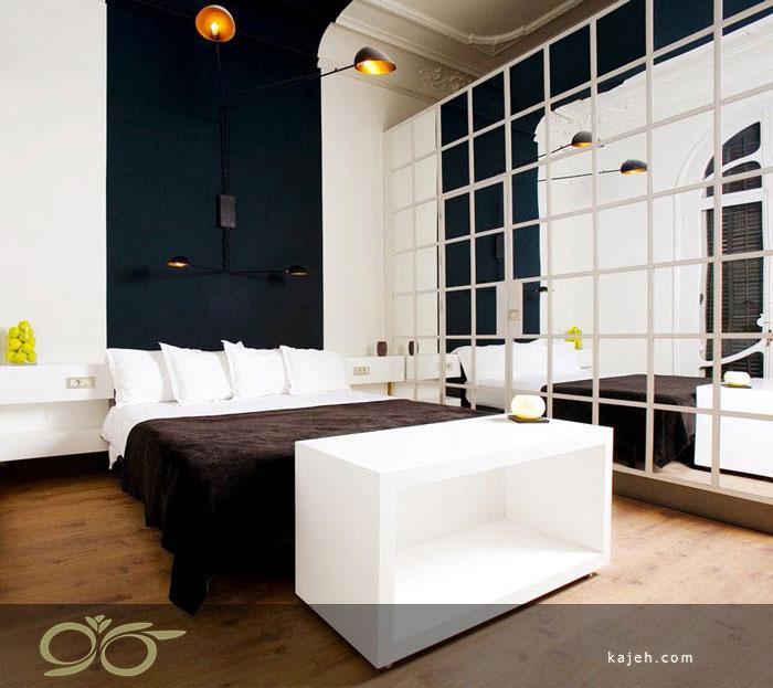 طراحی اتاق خواب با آینه های دکوراتیو جذاب