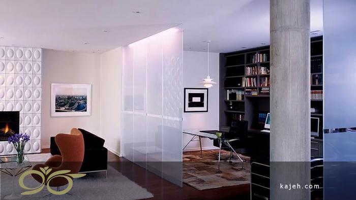 تزیین دیوار سالن های پذیرایی با شیشه های تزیینی