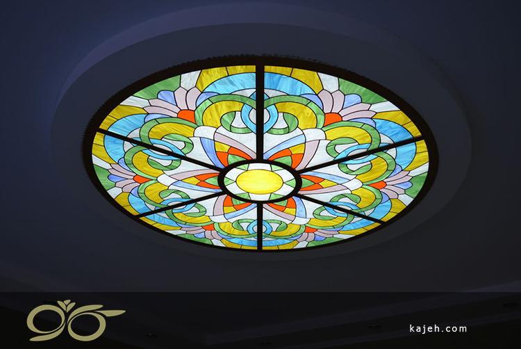 سقف شیشه ای با طرح های رنگارنگ