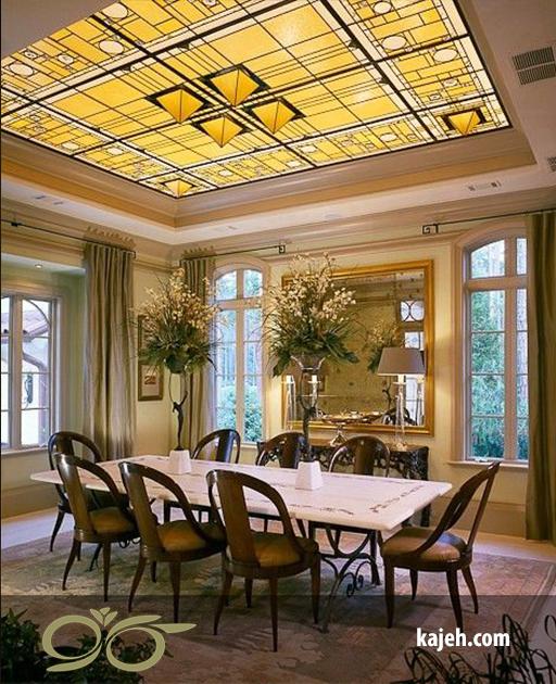 9 نمونه زیبا از سقف کاذب شیشه ای