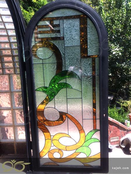 ساخت درب فلزی با شیشه استین گلاس