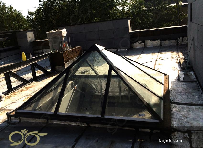 هرم شیشه ای نورگیر – پروژه دماوند – ویلای آقای خواجه امیری + فیلم