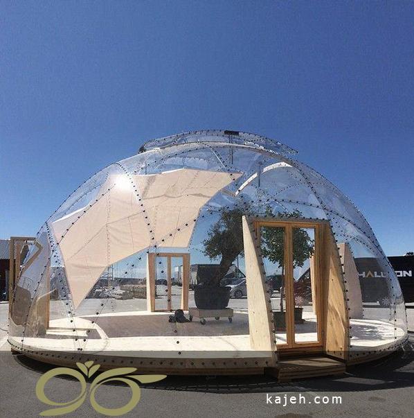 سازه های چوبی برای ساخت گنبد شیشه ای