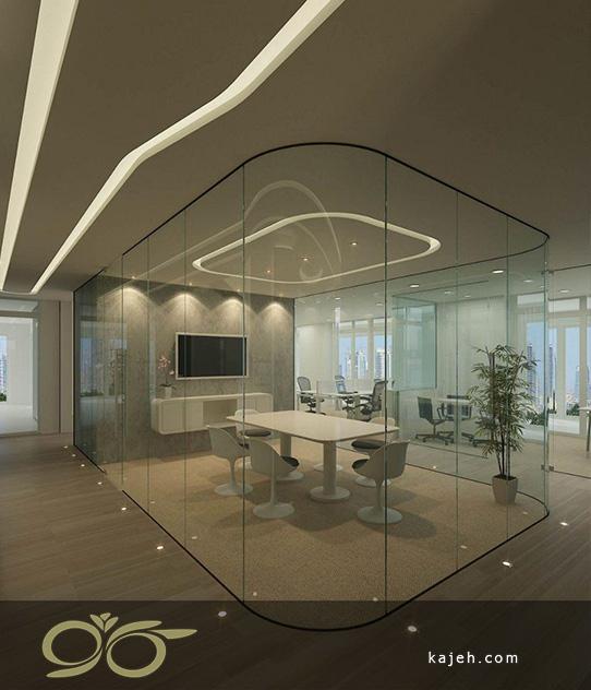 دکور شیشه ای برای اتاق مدیریت