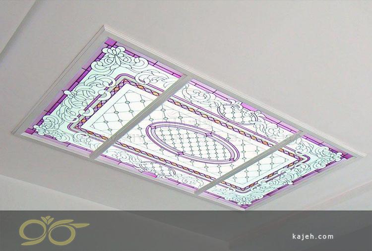 سقفهای طراحی شده با دو رنگ بر روی شیشههای یکپارچه