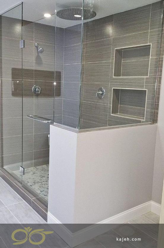 حمام با دکور شیشه ای