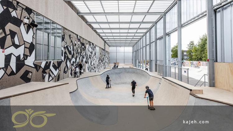 هزینه کم مسقف کردن فضای بازی اسکیت با پلی کربنات