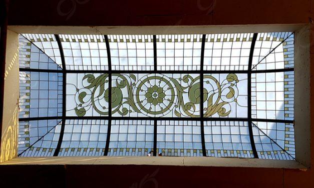 سقف نورگیر شیشه ای مجتمع تجاری صالح آباد ; ساخت با شیشه استین گلس