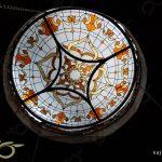 شیشه استین گلاس ( استیند گلس ) ; سقف نورگیر شیشه ای و دایره ای شکل تخت – پروژه شهرستان خوی