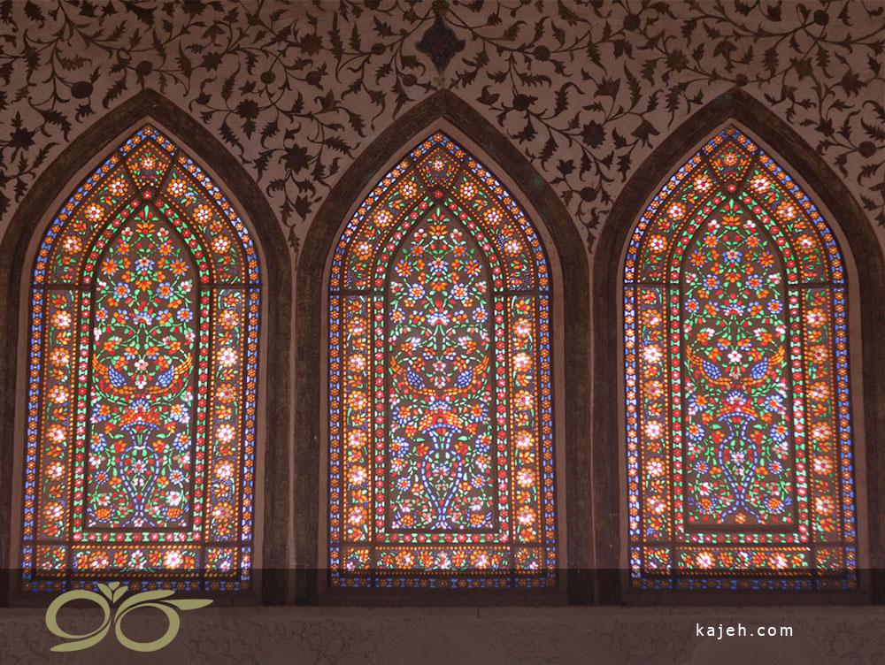 پنجره استین گلاس در موزه اسلامی، مسجد الاقصی (هنر اسلامی)