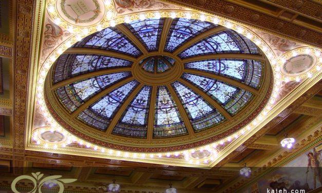 معرفی گنبد شیشه ای استین گلس دادگاه تاریخی آلن در ایالت ایندیانا ی آمریکا