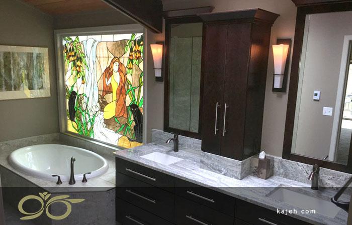 استفاده از شیشه استین گلس برای حمام - ایده های برای دکوراسیون