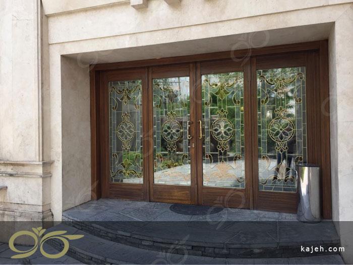 شیشه درب لابی ( استین گلاس ) - پروژه پونک
