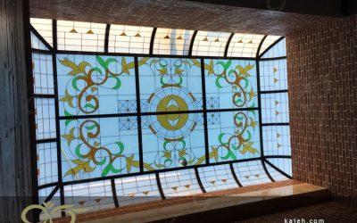 سقف نورگیر شیشه ای و دکوراتیو مجتمع آموزشی انرژی اتمی استان قزوین + فیلم