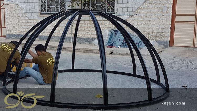 منتاژ گنبد شیشه ای ماهشهر
