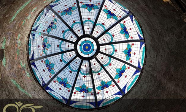 گنبد شیشه ای ماهشهر ساخته شده از شیشه های استین گلس ( استیند گلس )