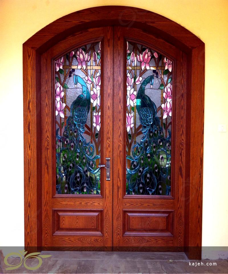 درب شیشه ای طاووس