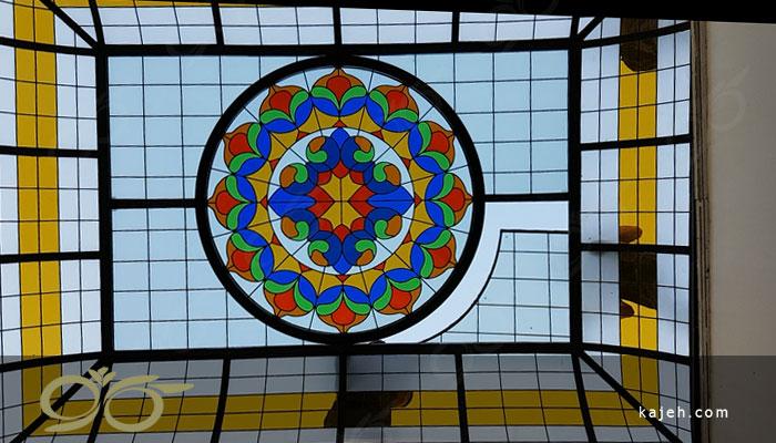 سقف نورگیر شیشه ای و تزئینی شرکت کارا پست