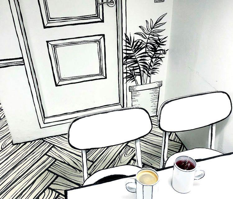 کافه دو بعدی ; راهنمای طراحی و اجرای کافه به سبک دو بعدی