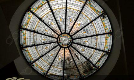 سقف نورگیر شیشه ای کامرانیه – ساخت با شیشه های استین گلس + فیلم
