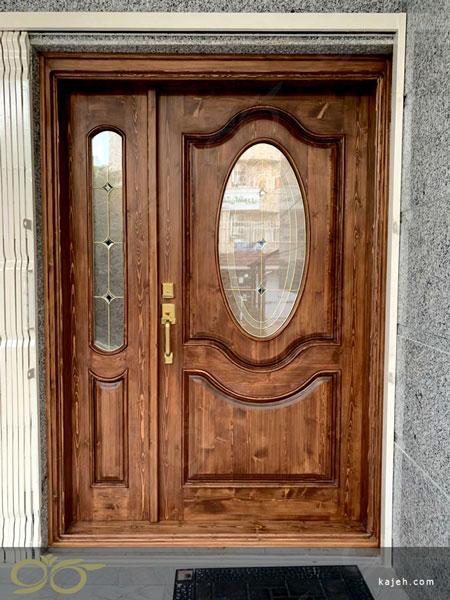 درب ورودی منزل مسکونی (گرگان) ساخت با شیشه استین گلس