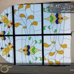 سقف نورگیر شیشه ای قائمشهر ( ساخت با شیشه های استین گلس )