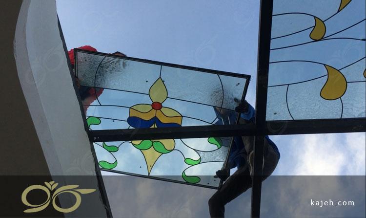 سقف نورگیر شیشه ای قائمشهر